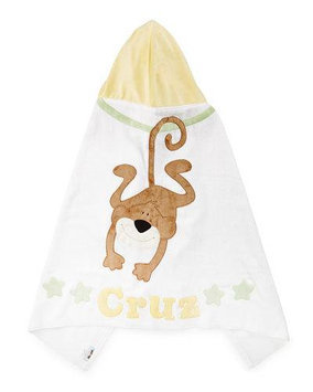 Wild Ones Hooded Towel, White - Boogie Baby