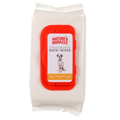 Nature's Miracle® Honey Sage Deodorizing Bath Wipes