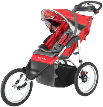 Schwinn Arrow Single Jogger - Red & Black