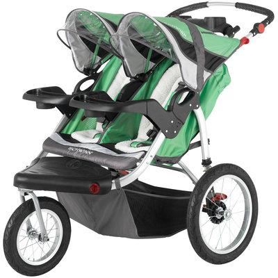 Schwinn Turismo Double Jogging Stroller - Green & Black Green/black