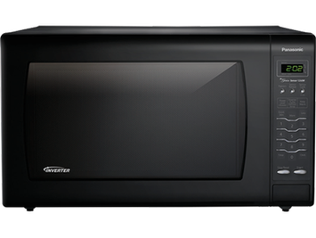 Panasonic REFURBISHED Luxury Full-Size 2.2 cu. ft Genius Countertop Microwave Oven with Inverter Technology, Black