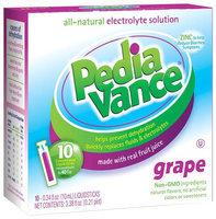 PediaVance - All-Natural Electrolyte Solution Grape - 10 x .34 oz. Liquid Sticks