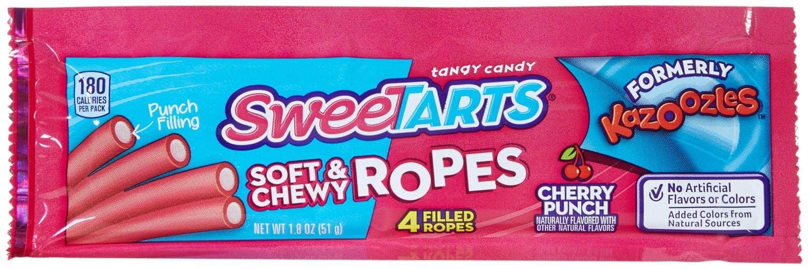 Wonka Sweetarts Candy - Soft & Chewy Ropes - 1.8 oz - 24 ct