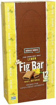 Nature's Bakery Whole Wheat Fig Bar, Lemon, 2 Ounce (Pack of 12)