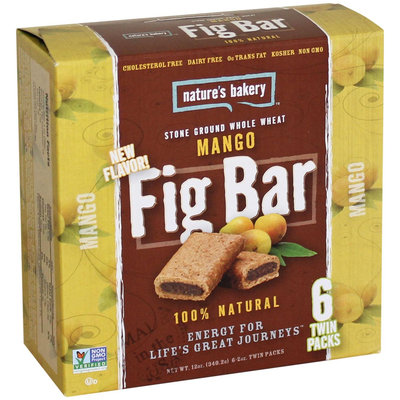 Nature's Bakery - 100 Natural Stone Ground Whole Wheat Fig Bars Mango - 6 x 2 oz. Twin Packs