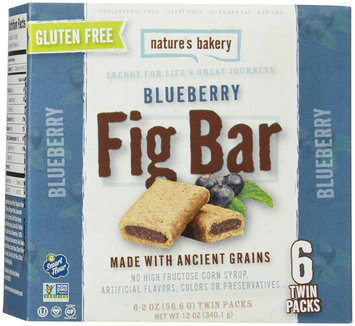Nature's Bakery FIG BAR, BLUEBERRY, GF, (Pack of 12)