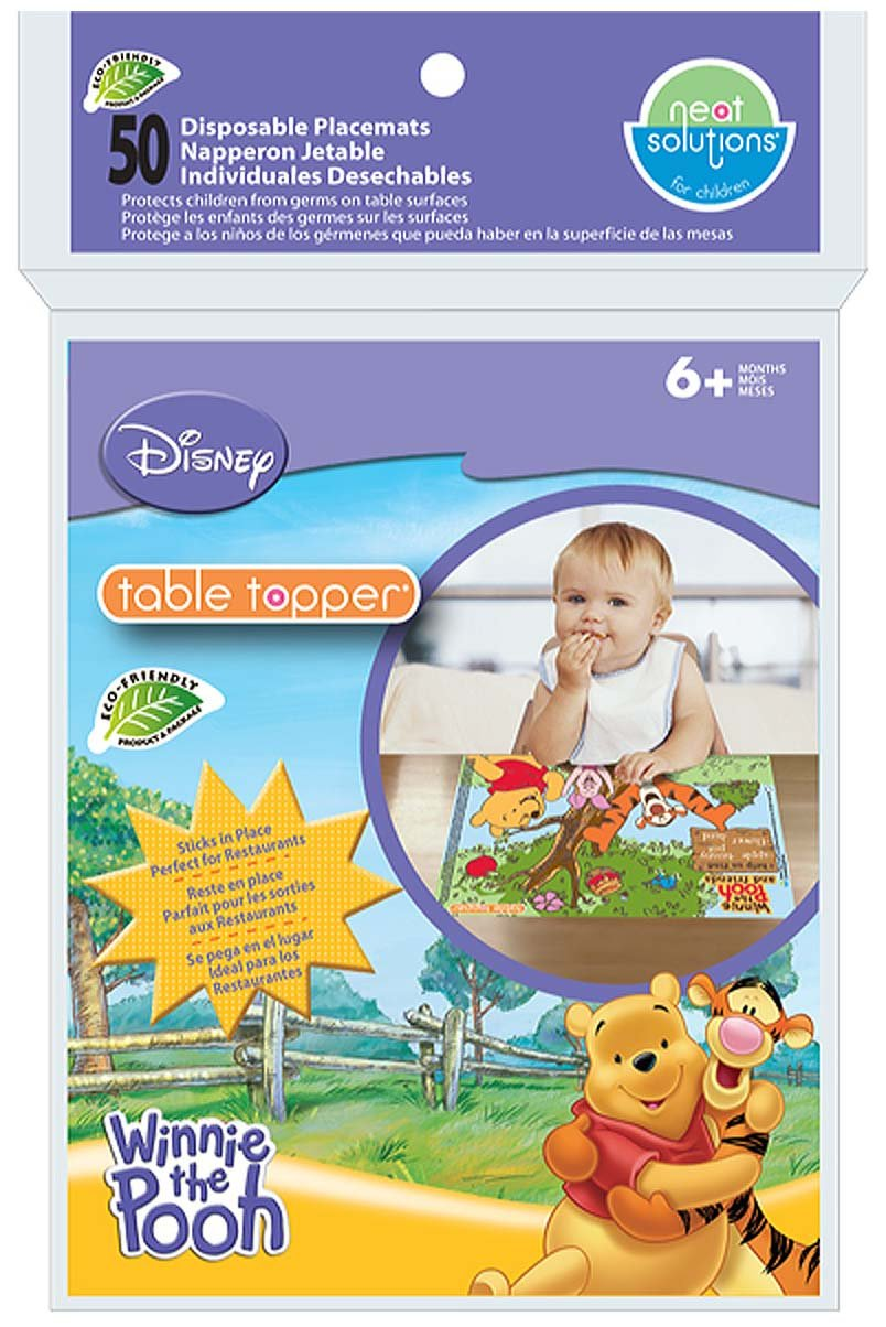 Neat Solutions Table Topper with Travel Case - Winnie the Pooh - 50 ct