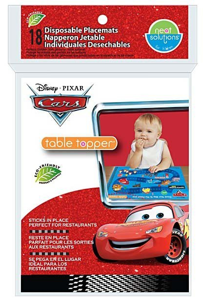 Neat Solutions Table Topper - Disney Cars - 18 ct