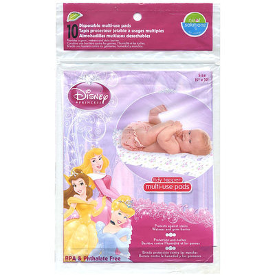 Neat Solutions Tiddy Topper Multi Use Pad - Green Disney Princess - 10 ct