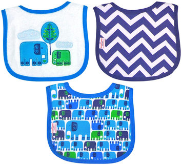 Babies R Us Happy Chic Baby By Jonathan Adler 3 Pack Drooler Bib Set-Elephant