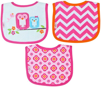 Babies R Us Happy Chic Baby By Jonathan Adler 3 Pack Drooler Bib Set-Owl