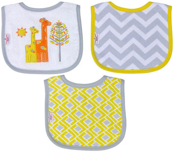 Babies R Us Happy Chic Baby By Jonathan Adler 3 Pack Drooler Bib Set-Giraffe
