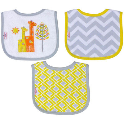 Babies R Us Happy Chic Baby By Jonathan Adler 3 Pack Drooler Bib Set-Giraffe