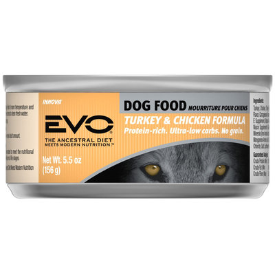 EVO Turkey & Chicken Canned Dog Food