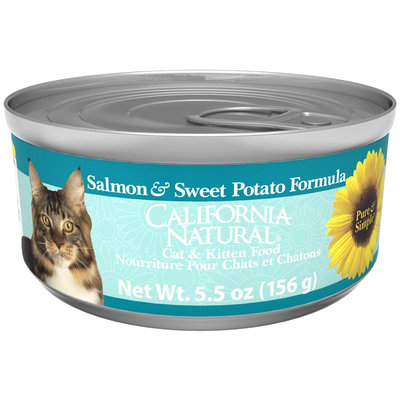 California Natural Salmon & Sweet Potato Canned Cat & Kitten Food