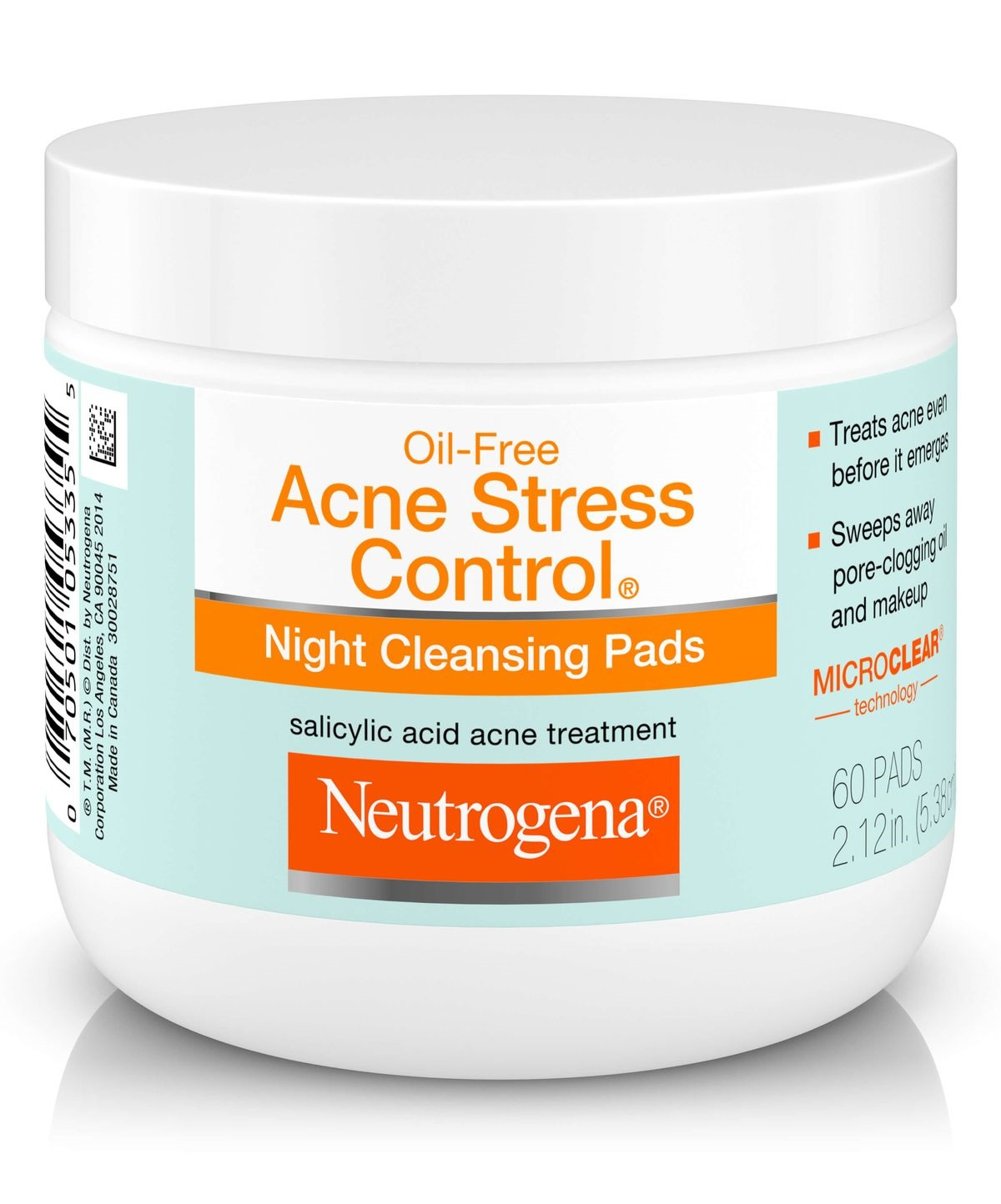 Neutrogena® Oil-free Acne Stress Control® Night Cleansing Pads
