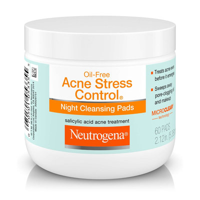 Neutrogena® Oil-free Acne Stress Control® Night Cleansing Pads