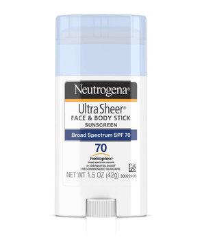 Neutrogena® Ultra Sheer® Face + Body Stick Sunscreen Broad Spectrum SPF 70