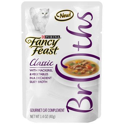 Nestlé Purina Pet Care Canned NP29341 Fancy Feast Broths Mackerel-Vegetables Classic 32-1.4 Oz.