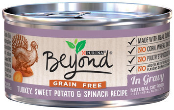 Purina BeyOnd Gravy Grain Free - Turkey Sweet Potato and Spinach Recipe - 12x3 oz