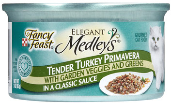 Nestlé Purina Cat Supplies Fancy Feast Elegant Medleys Turkey Primavera