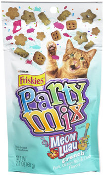Friskies Party Mix Meow Luau Crunch - Pork, Ocean Fish & Crab - 10x.