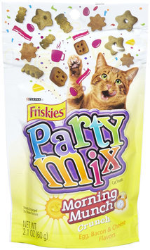 Friskies Party Mix Morning Munch Crunch Cat Treats 2.1-oz pouch