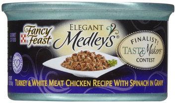 Fancy Feast Elegant Medleys Gourmet Turkey & White Meat Chicken with Spinach - 24x3oz
