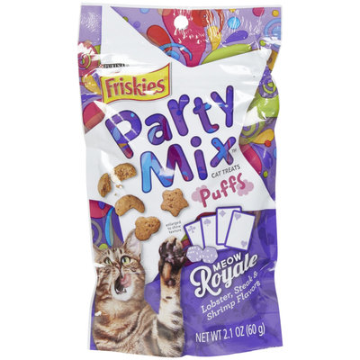 Friskies Party Mix Puff Treats - Meow Royale Lobster, Steak and Shri