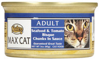 Nutro Max Canned Cat Food 3oz Case Seafood/Tomato