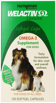 Lambriar Vet Welactin Canine Softgel Capsule, 120 Count, 3-Pack