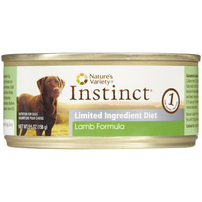 ture's Variety Instinct Limited Ingredient Diet Lamb Canned Dog Food Size: 5.5 oz.