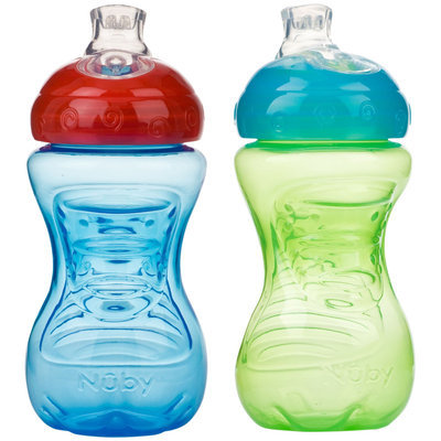 Nuby New Style Gripper Cup - Boy - 10 oz - 2 pk