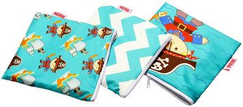 Nuby 3-pk. Reusable Snack Bags (Pirate)