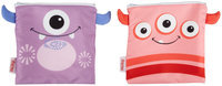 Nuby Reusable Sandwich and Snack Bag - Pink/Purple - 2 ct