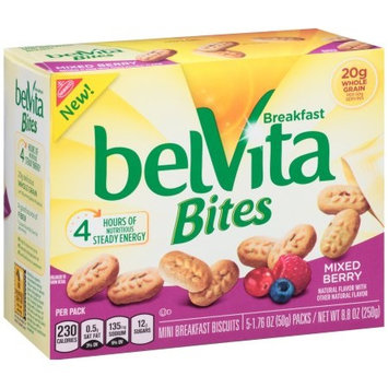 Nabisco belVita Bites Mini Breakfast Biscuits Mixed Berry