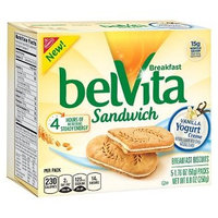 Nabisco belVita Breakfast Biscuits Sandwich Vanilla Yogurt Creme