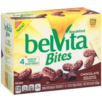 Nabisco belVita Mini Breakfast Biscuits Bites Chocolate