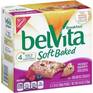 Nabisco belVita Mixed Berry Soft Baked Breakfast Biscuits