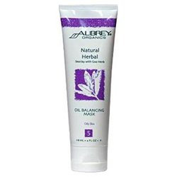Aubrey Organics Natural Herbal Seaclay Oil Balancing Mask