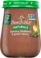 Beech-Nut® Stage 2 Banana, Blueberry & Green Beans