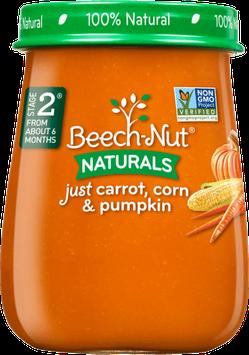 Beech-Nut naturals just carrot, corn & pumpkin jar