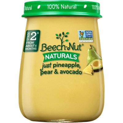 Beech-Nut® Stage 2 Naturals Just Pineapple, Pear & Avocado