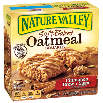 Nature Valley™ Soft-baked Oatmeal Squares Cinnamon Brown Sugar