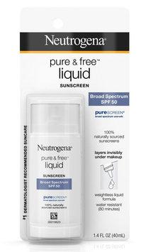 Neutrogena® Pure & Free® Liquid Sunscreen Broad Spectrum Spf 50
