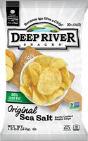 Deep River Snacks 50% Reduced Fat Kettle Cooked Potato Chips Orignal Sea Salt