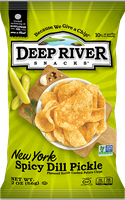Deep River Snacks New York Spicy Dill Pickle Kettle Chips
