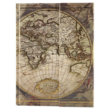 Magnetic Journal, World Map by Artists Loft