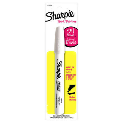 Oil-Based Paint Marker, Medium Point, 2 in White by Sharpie