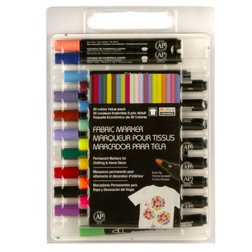 Uchida Bold Point Fabric Markers, Value Pack by Marvy